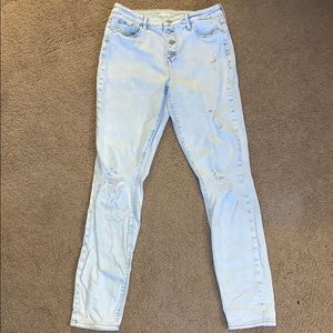 Women's Old Navy high rise super skinny jeans
